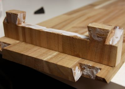 I created simple dovetails